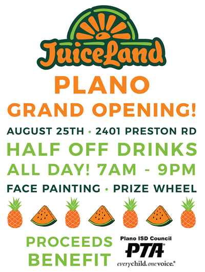 JuiceLand Plano Grand Opening