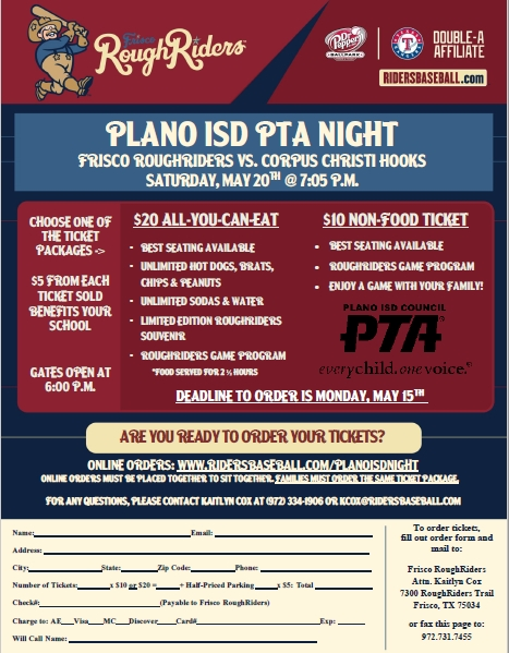 Plano ISD PTA RoughRiders Nights